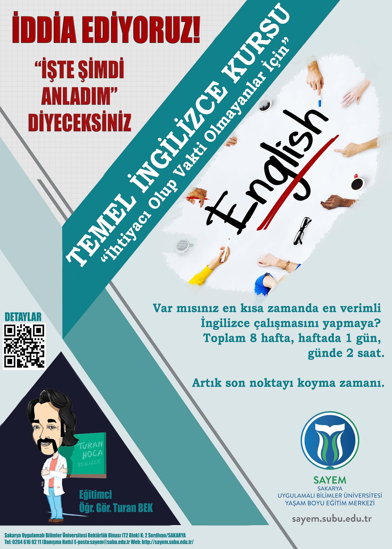 SAYEM Örgün Eğitim Temel İngilizce Eğitimi